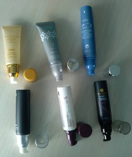 manufacture 30-50ml offset, silkscreen  printing with pump cap plastic Kosmetic tube packing