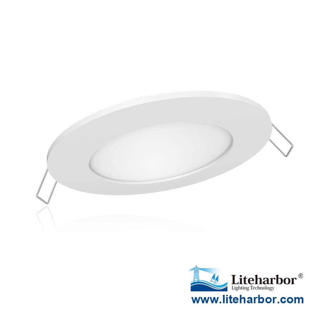 "Liteharbor Lighting 4"" Ultra-thin Round LED Recessed Panel Light"