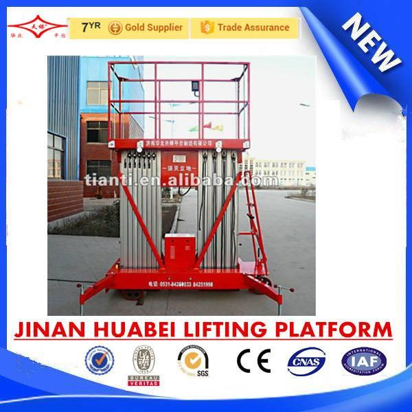 double mast aluminum alloy work platform