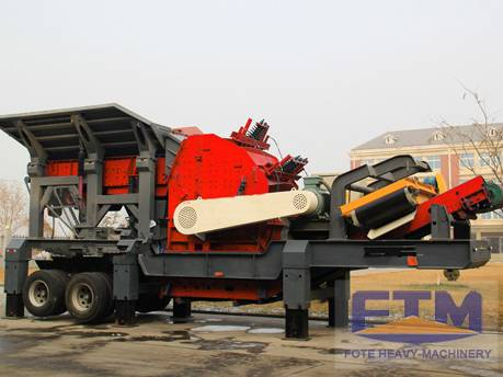Aggregate portable crusher machine