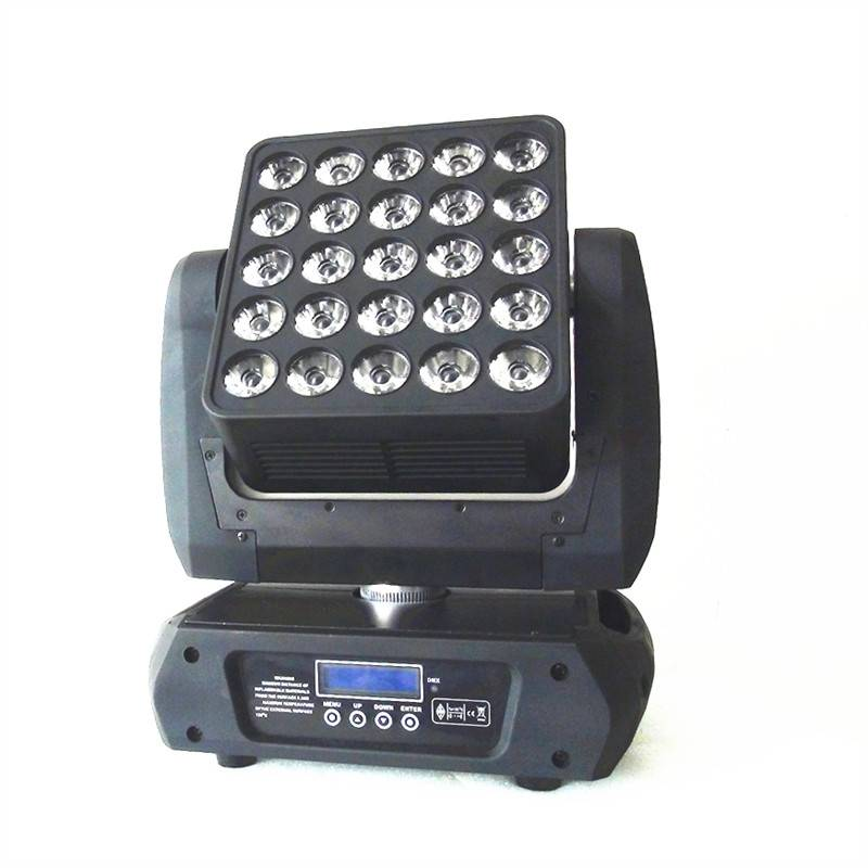 Unlimited Pan/Tilt Movement 25PCS 12W CREE RGBW 4IN1 LED Matrix Moving Head Light 5%off Free Shippin
