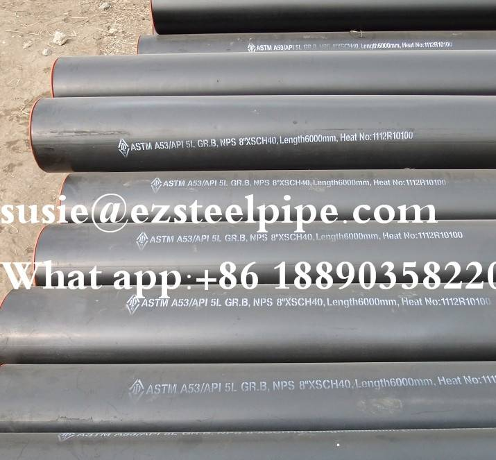 ERW ASTM A252 LSAW steel pipes/tubes sch 10 straight welded pipe/API 5L GR.B LSAW carbon steel pi