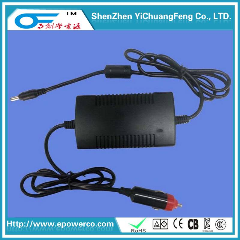 Car Power Supply - 12V5A/12V4A/ Vehicle TV power supply EN60065 car power adapter & with CE certific