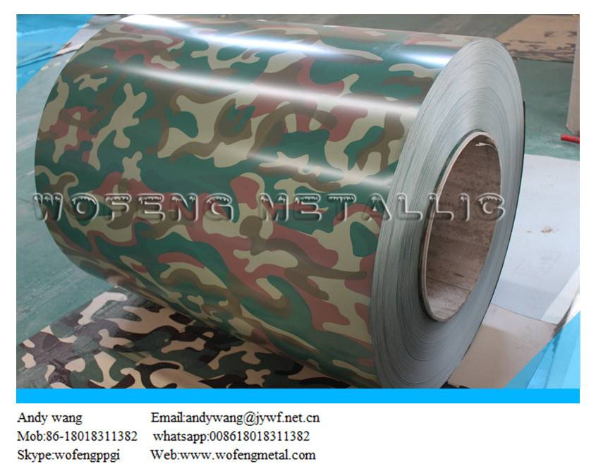 Prime Camouflage grain prepainted steel sheet