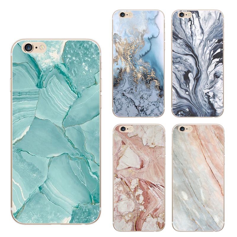 Creative Cell Phone case marble phone cover for iphone 7