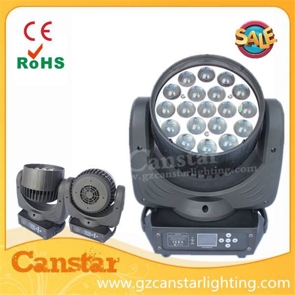 Osram 19x15w led zoom moving head light RGBW