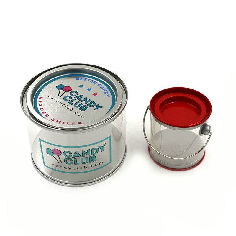 Candy packaging round tin box