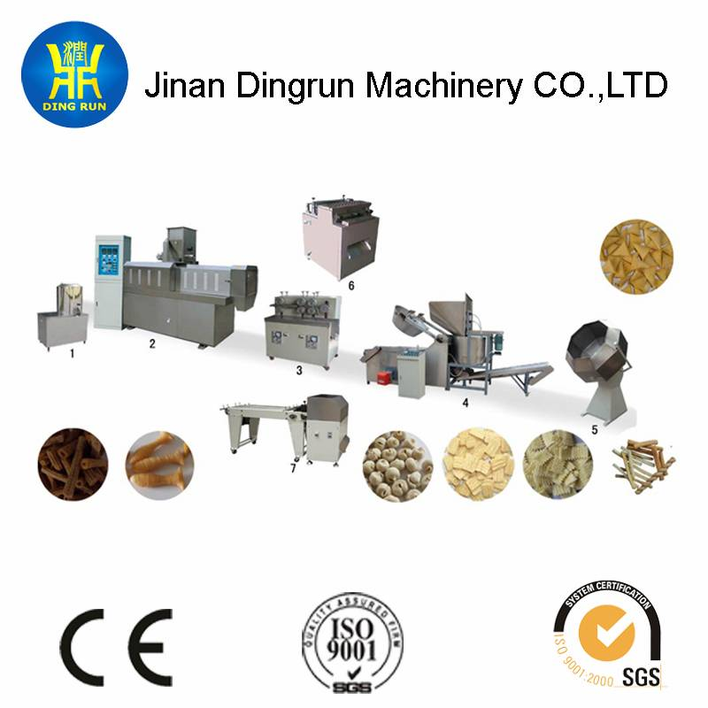 salad,rice crust food,screw,shell,bugles chips processing line