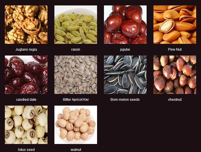 Nuts, dried fruits