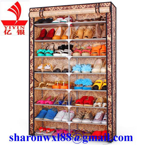 High quality large stackable shoe rack living room furniture