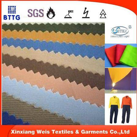 300gsm pure cotton flame resistant satin fabric