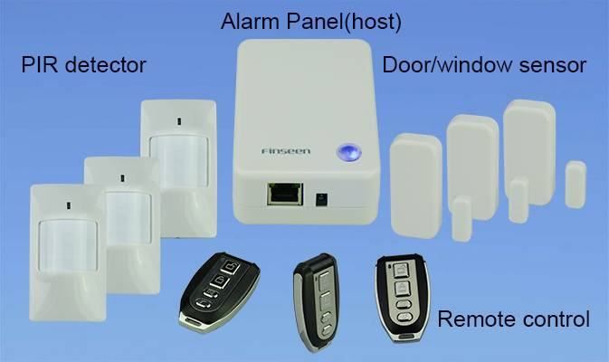 Intelligent IP Intrusion Home Alarm System with Android & IOS APP control