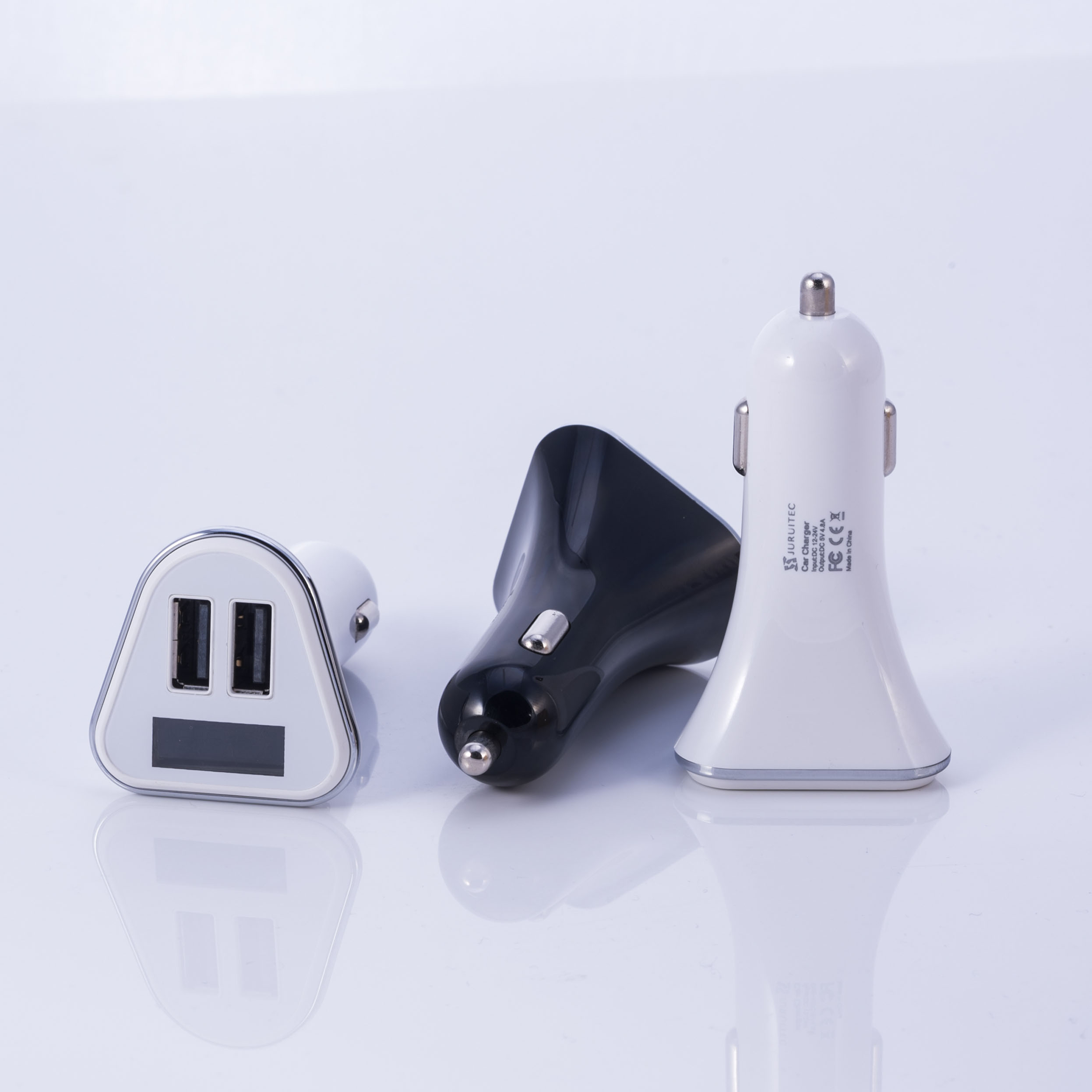 Newest hot sale high quality quick charge 4.8a usb car charger dual ports
