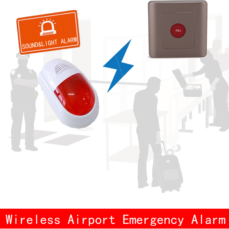 Airport security check,wireless emergency call,in terrorist attacks,push the button to alarm policem