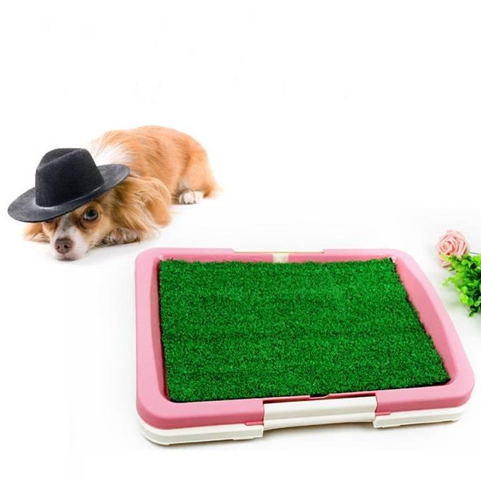 Pet Dog Toilet Grass Mat Dog Urinary Toilet Tray pad Dog Three Layers flat sodding Toilet Mat