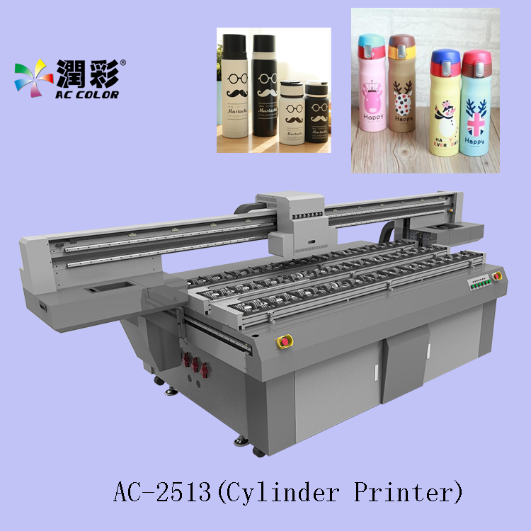 3d glass bottle wine bottle uv cylinder printer factory