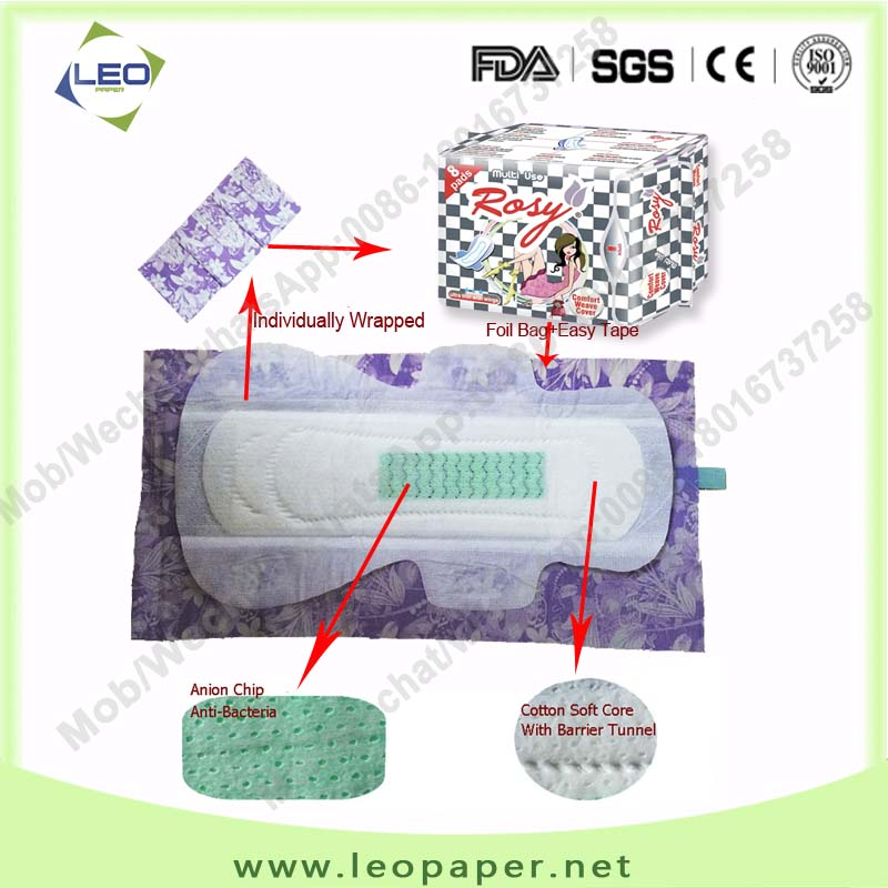 High Quality Attractive Price Disposable Herb Sanitary Napkin Manufacturer from China