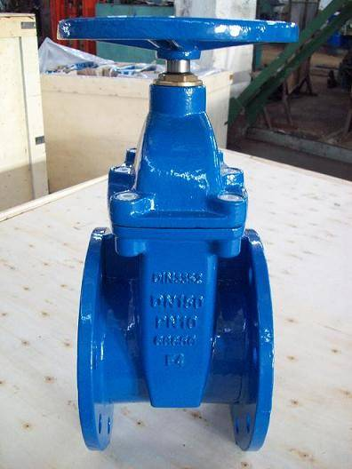 (DIN) Ductile iron resilient seat NRS gate valve