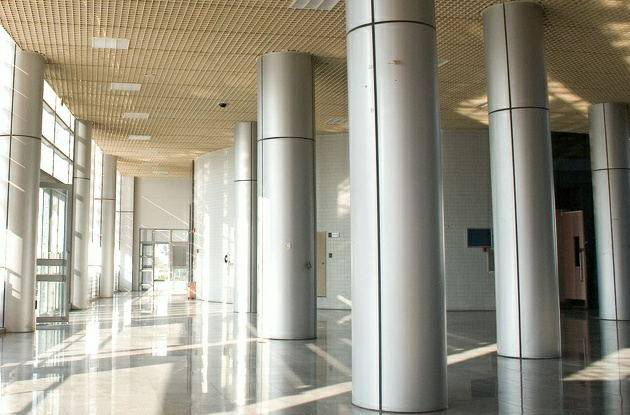 Interior And Exterior Aluminum Cladding Of Column Covering