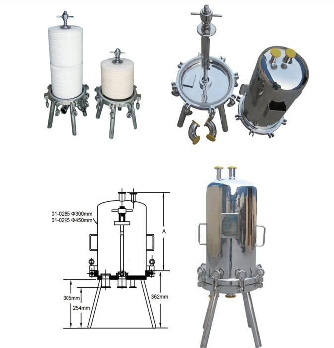 Stainless Steel Sanitary Lenticular Filter Housing