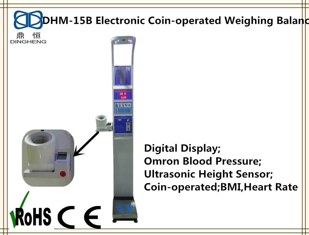 DHM-15B Double Button Blood Pressure and Height weight body fat coin money Scale balance