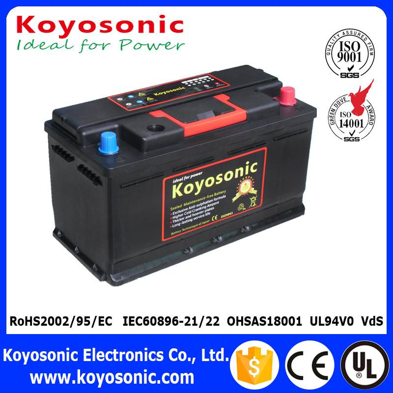 DIN Standard 12V 95AH Lead Acid MF Car Battery With Competitive Price