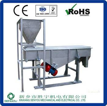 Newly large capacity double motors vibrating screen With ISO Certificate