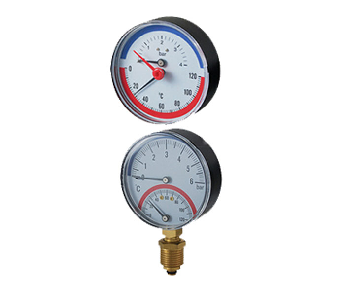 thermobarometer-plastic case with check valve