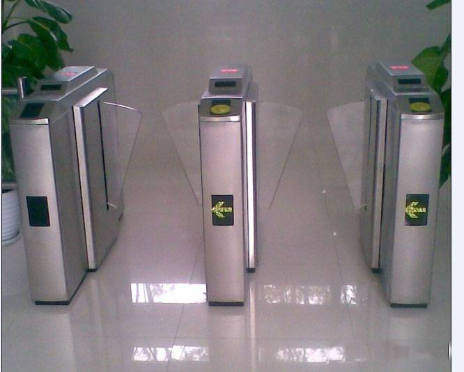 CE Approved 304 Stainless Steel wing Turnstile,Electronic security entrance turnstile sliding gate