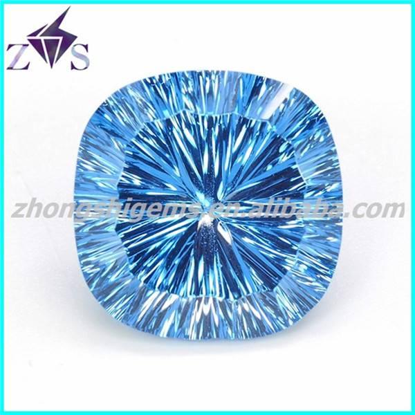 Concave  Cut Precious Sunthetic Stones CZ