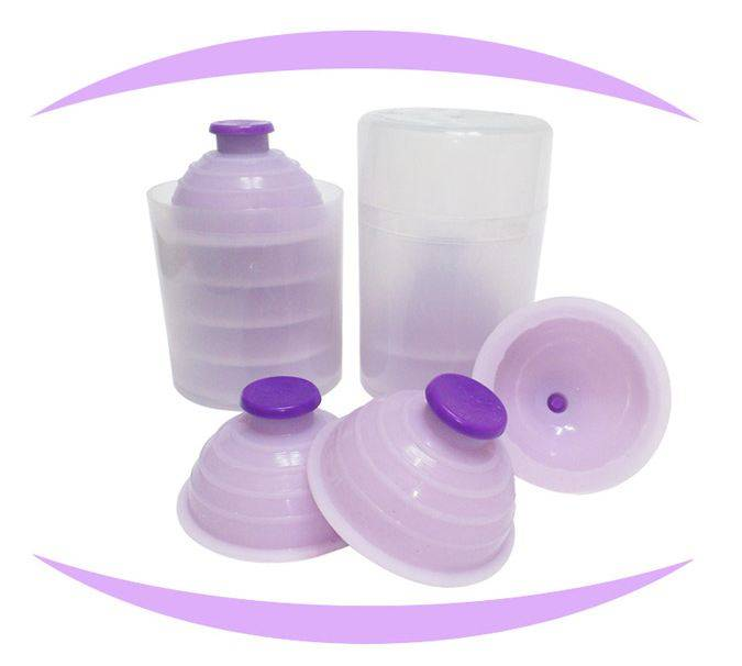One Touch Silicone Cupping Cups