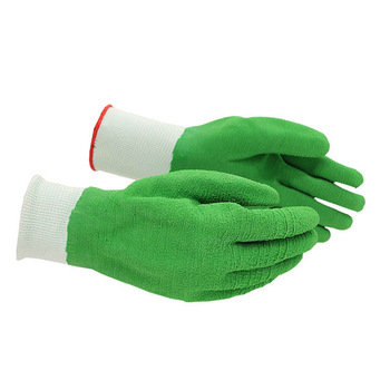 Latex coated gloves crinkle working safety gloves