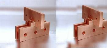 Copper parts turned parts