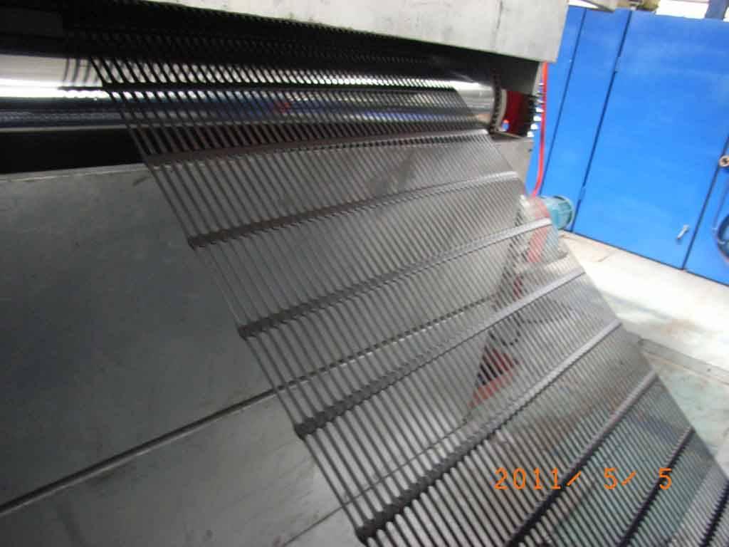 Plastics uniaxial geogrid production line