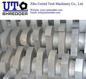 Double roller shredder D52100 - tire shredder, tire crusher,  tire cutter,