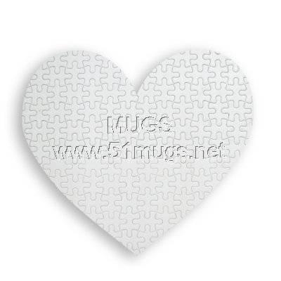 sublimation puzzles DIY heart shape puzzle mouse pads mugs etc.