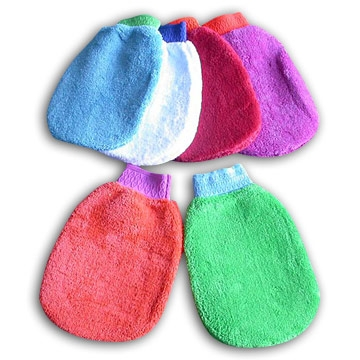 Microfiber Cleaning Gloves (coral-like plush car-washer)