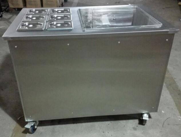 Pan ice cream machine with 6 fruit trays