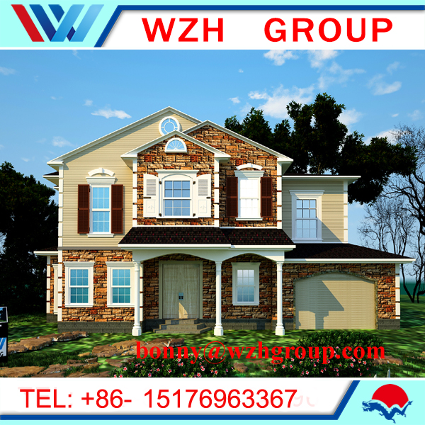 Pre fabricated light steel house and luxuary steel villa house
