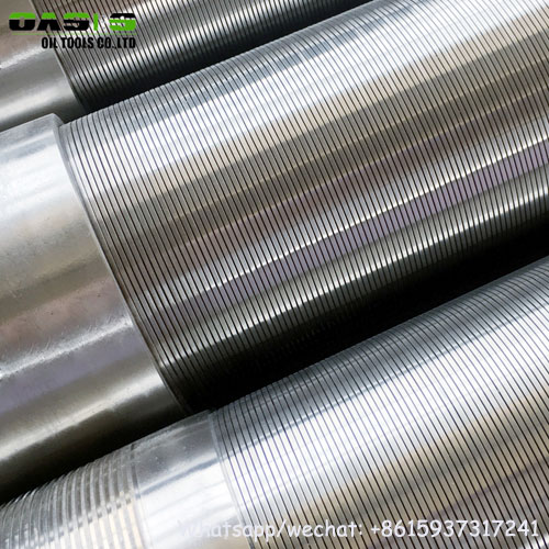 304 stainless steel wire wrapped Johnson screens pipe China manufacturer