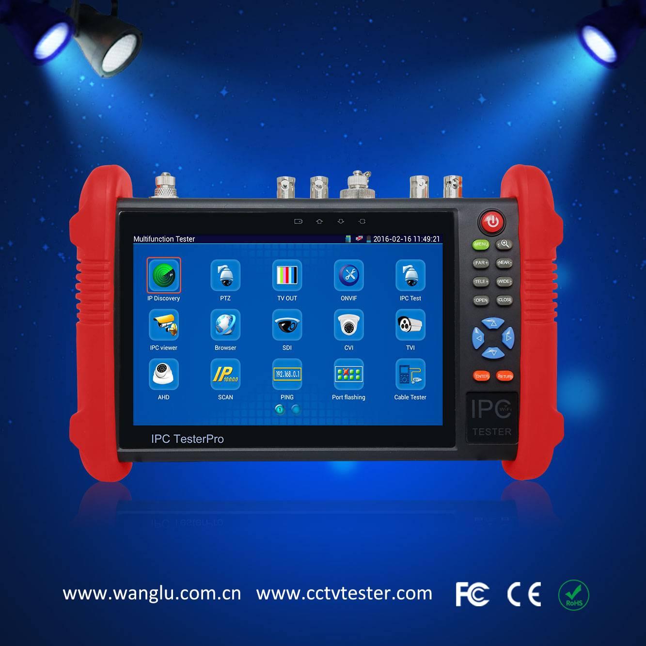 7 inch AHD/CVI/TVI/SDI ip camera tester