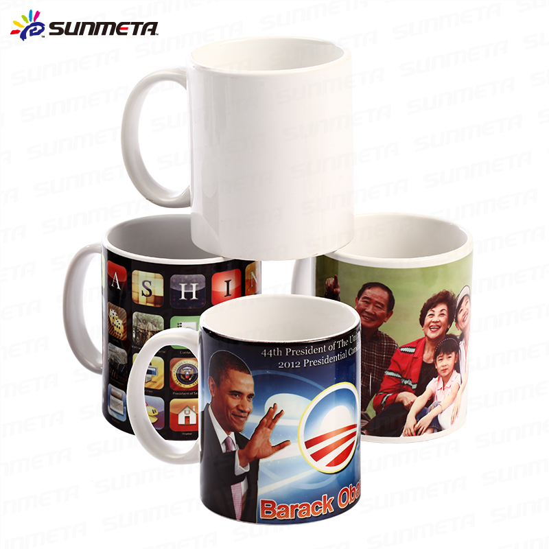 11oz Sublimation Coated White Ceramic Mugs Blanks Wholesale