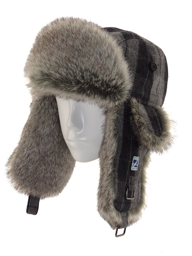 winter fur Russian Ushanka earflap cap hat trapper