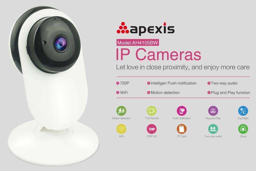HD IP Camera wifi/cable AH4105BW