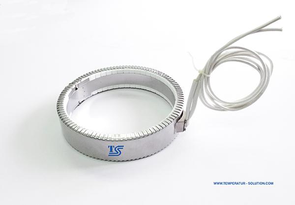 Nozzle electric high watt density ceramic band heater