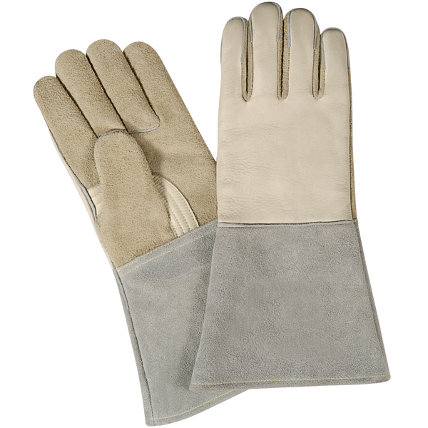 Tig Welding Safety Gloves, Made of fine quality split leather