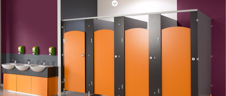 Rich-Lees WC HPL compact toilet partition / toilet cubicles