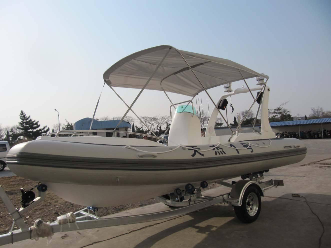 RIB580B rigid inflatable boat grp hull boat