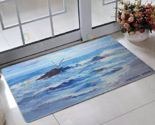 anti-slip natural rubber bath room door mats