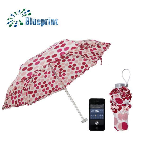 lady 5 folded pocket lace mini polka dot umbrella